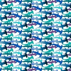hammerheads on white (horizontal, small)