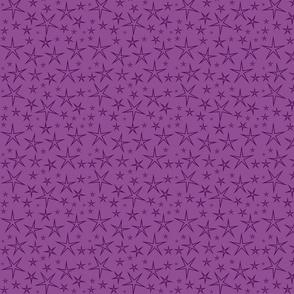 Purple Stars on Purple