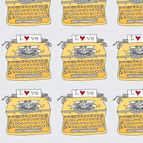 yellow typewriter love