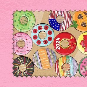 Bakers Dozen Donuts Tea Towel 2021 Calendar