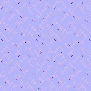 Periwinkle Dots and Xs