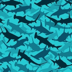 great hammerhead sharks - aqua