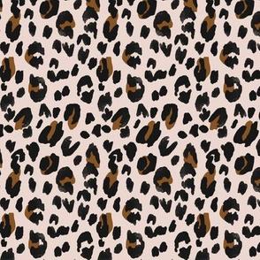 Leopard - black brown on blush