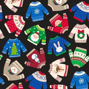 Christmas Sweaters-Trad-Black-Toss