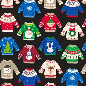 Christmas Sweaters-Trad-Black