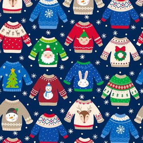 Christmas Sweaters-Trad-Flakes-Navy