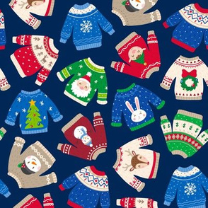 Christmas Sweaters-Trad-Navy-Toss