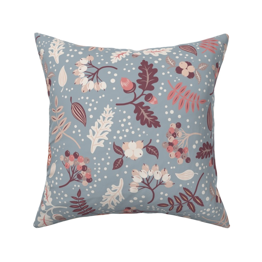 Catalan Throw Pillow featuring First Snow by rebelform