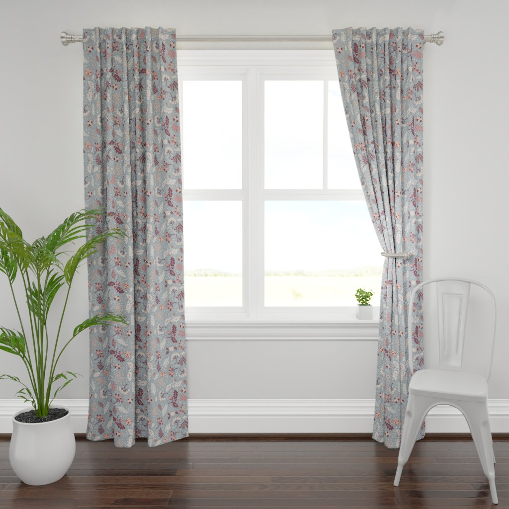 Plymouth Curtain Panel featuring First Snow by rebelform