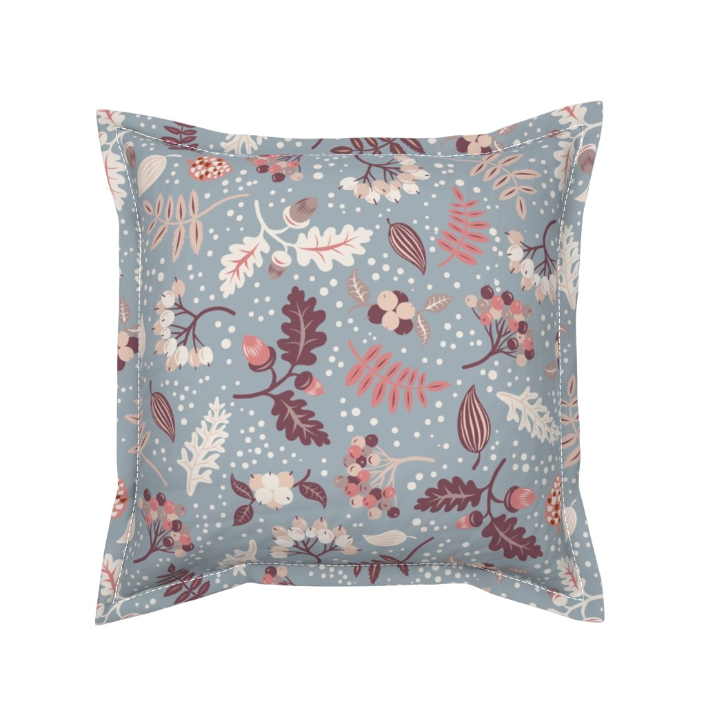 Serama Throw Pillow featuring First Snow by rebelform