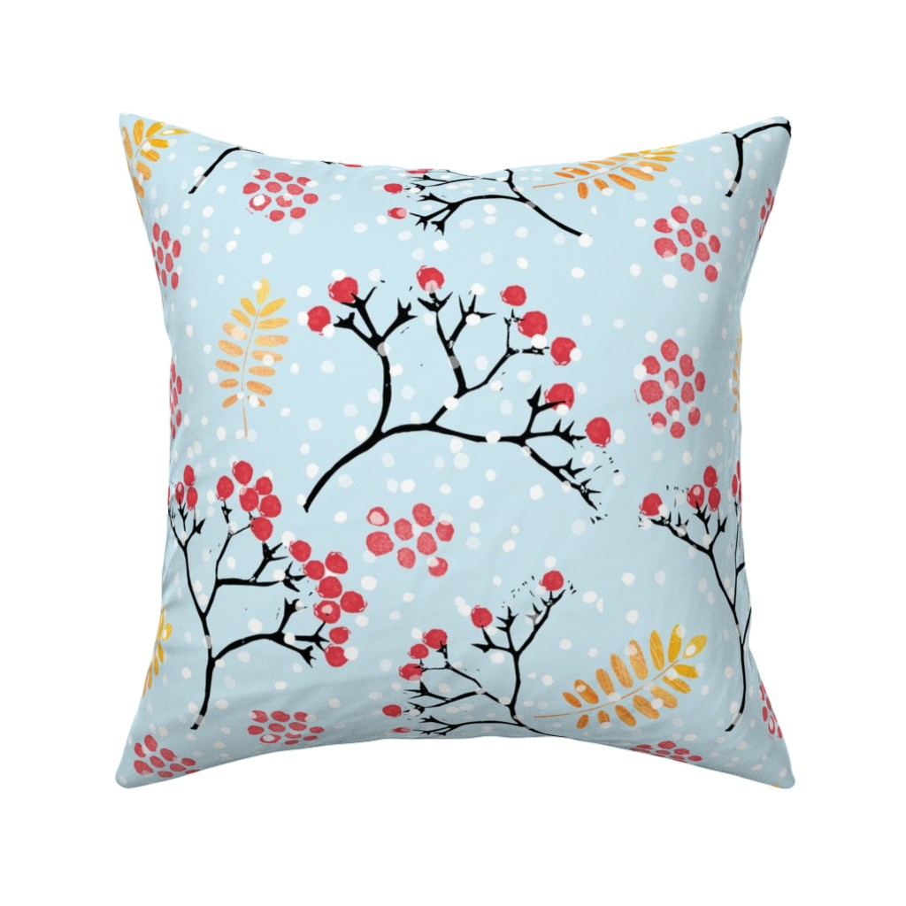 Catalan Throw Pillow featuring Rowan berries by anette_kithier