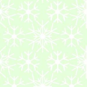 snow flowers green