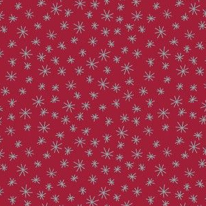 Snowflakes / Red background