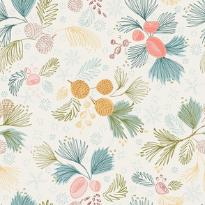 Winter Flora Ivory