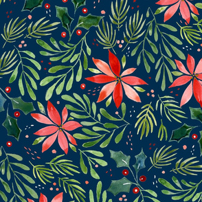 Holiday Poinsettia in Midnight - © Lucinda Wei