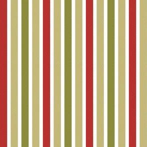 Red olive green pistacho stripes