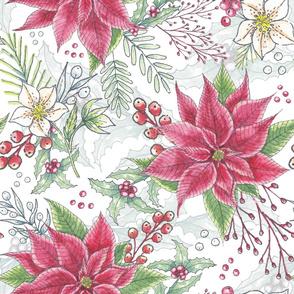 Winter Festive Florals