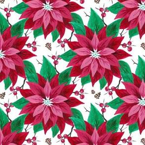 Poinsettia & Berries
