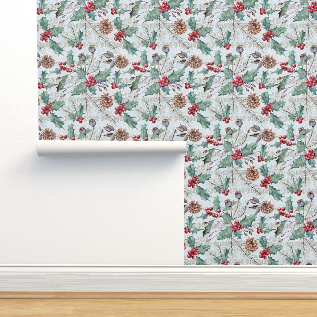 Isobar Durable Wallpaper featuring Winter Flora by malibu_creative
