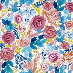 Bright, Bold, Watercolor Floral