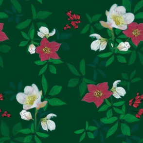 green_christmas_rose