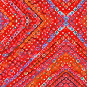 Festive-dots and diamonds