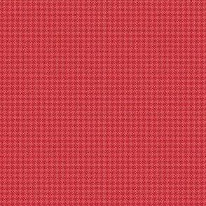 Red Burlap Houndstooth ©Julee Wood