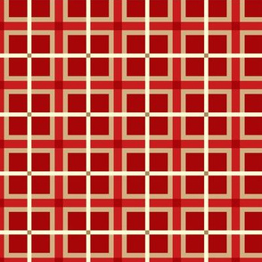 Plaid 4 - Red Tan Ivory ©Julee Wood