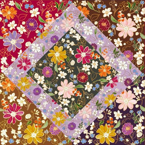Fall Bounty Patchwork Quilt