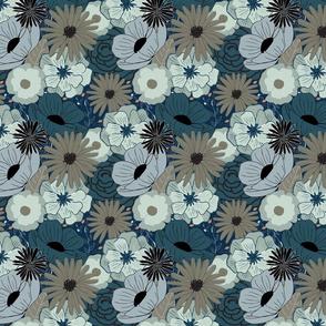 Winter Florals - Blue Neutrals