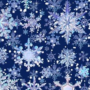 Fancy Snowflakes Blue