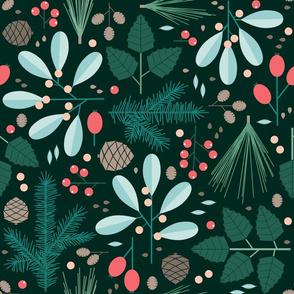 botanical winter - dark