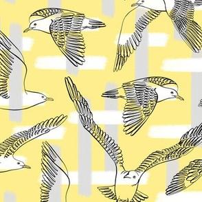 Seagulls (Yellow Background)