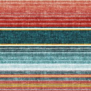 serape southwest stripes - teal -  LAD19