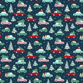 Driving home with christmas tree multicolor ( mini)