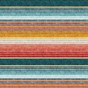 (small scale) serape southwest stripes - teal -  LAD19