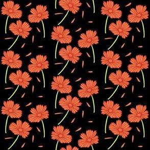 Dark Florals- Orange