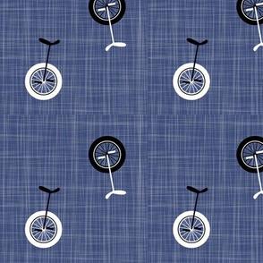 unicycles - denim blue
