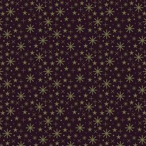 xmas flora | starry sky green dark bordaux
