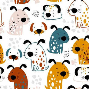 Funny dogs print