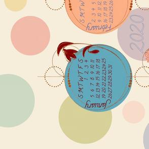 2020 polka dot tea towel calendar
