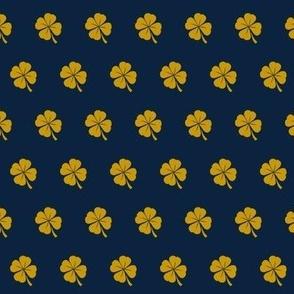 notre dame shamrock fabric - blue and irish green, irish fabric, fighting irish fabric, notre dame - blue