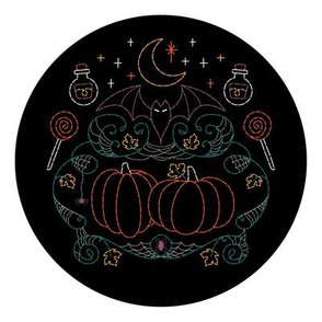 Witchy Webs Halloween Embroidery Pattern  // halloween bat candy pumpkins spider web embroidery hoop pattern