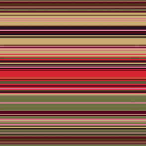 Colorful stripes |  20 – green , red, brown