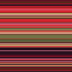 Colorful stripes |  21 –  red, brown, green