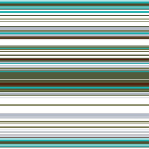 Colorful stripes |  22 –  white, gray and green