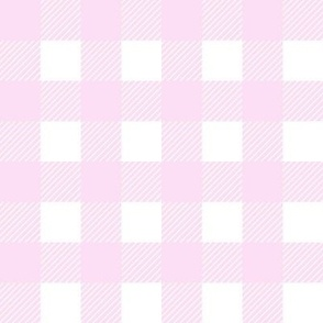 buffalo checks baby pink and white