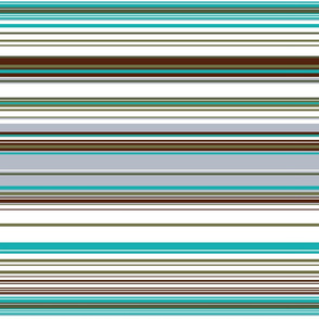 Colorful stripes |  24 –  white, brown and blue