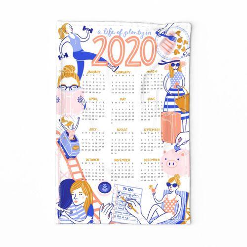 2020 Resolutions Tea Towel Calendar