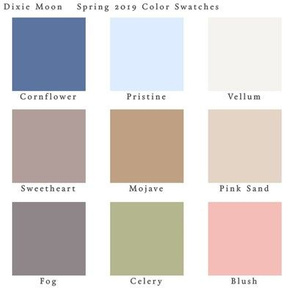 Dixie Moon Color Swatches Spring 2019